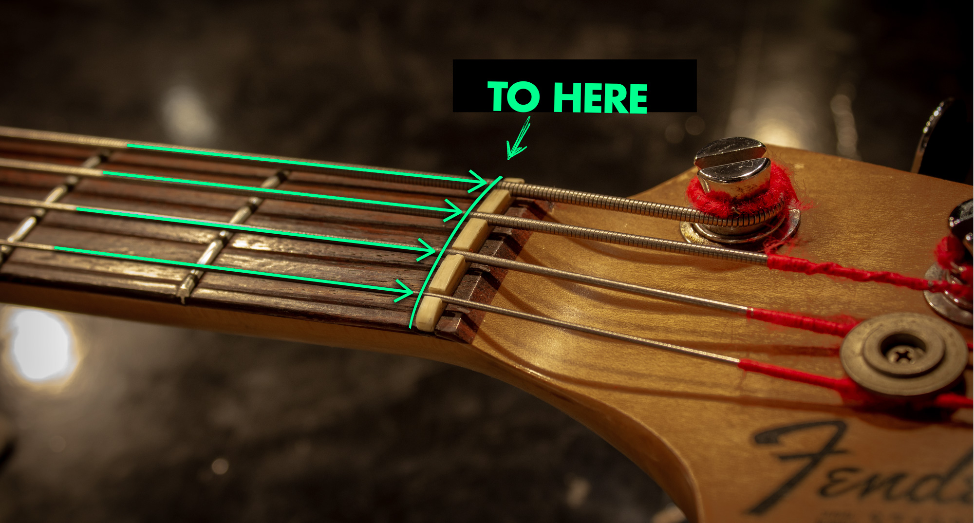 Measure your strings to here