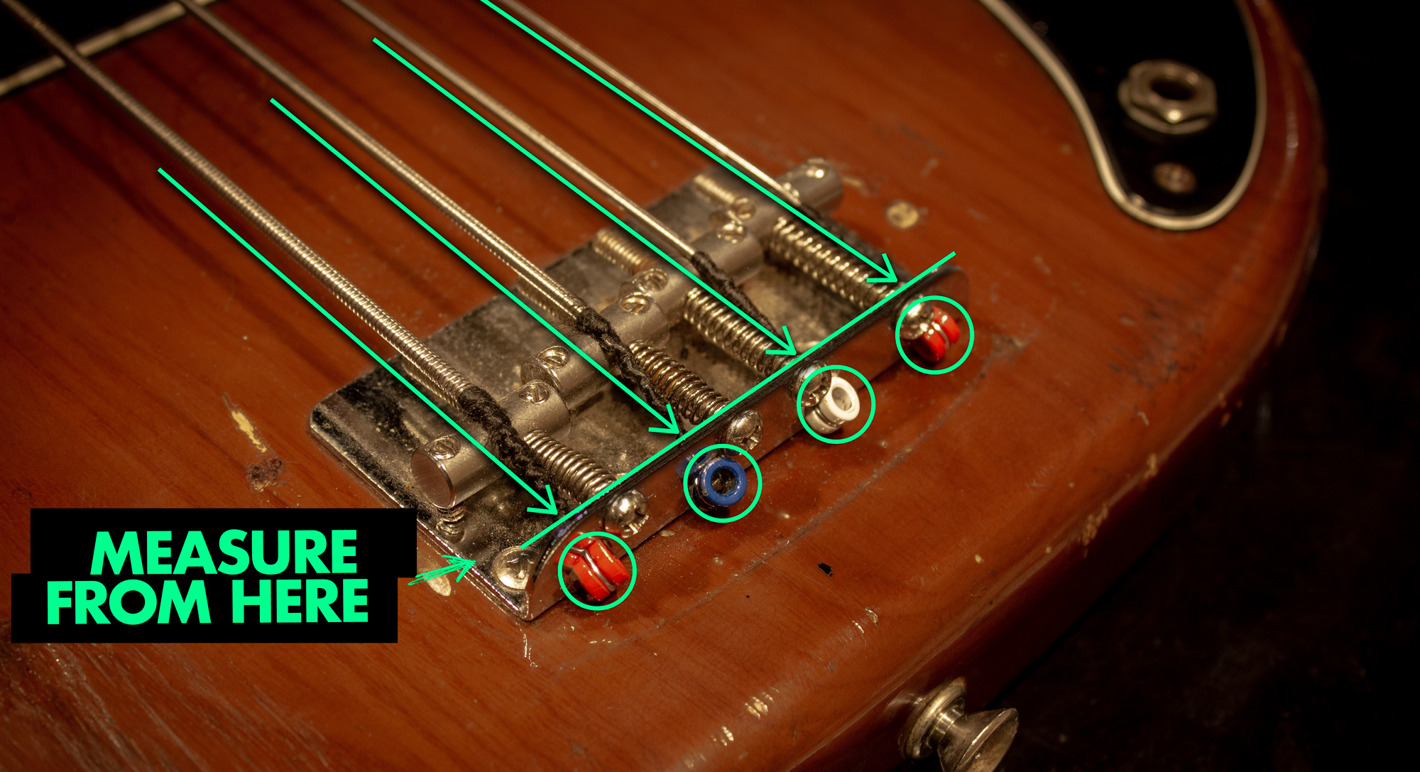 Measure your strings from here