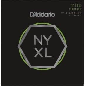 D'Addario  NYXL1156 Nickel Wound Electric Guitar Strings 11-56 Medium Top / Extra-Heavy Bottom