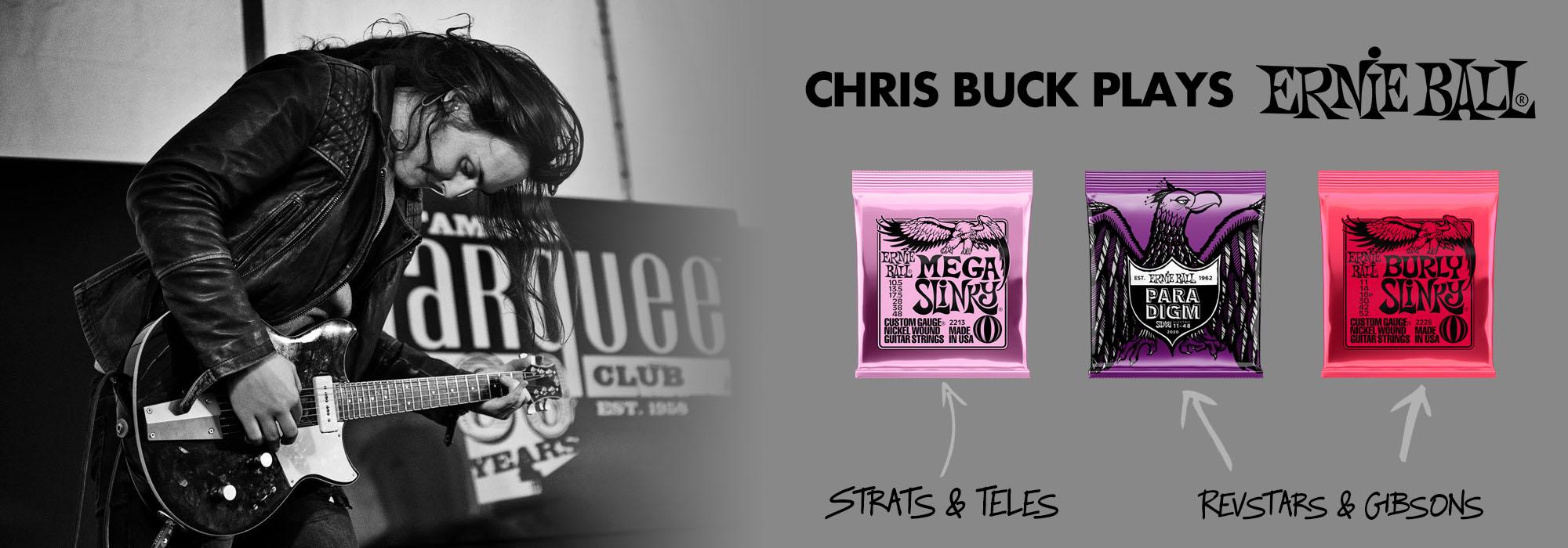 Chris Buck plays Ernie Ball Slinkys