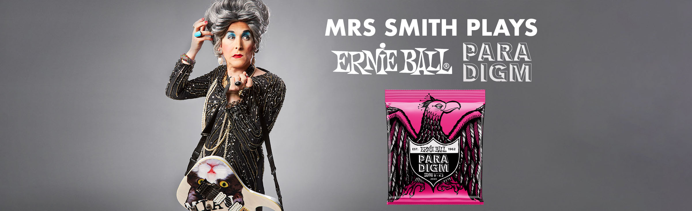 Mrs Smith Plays Ernie Ball Paradigm 9-42