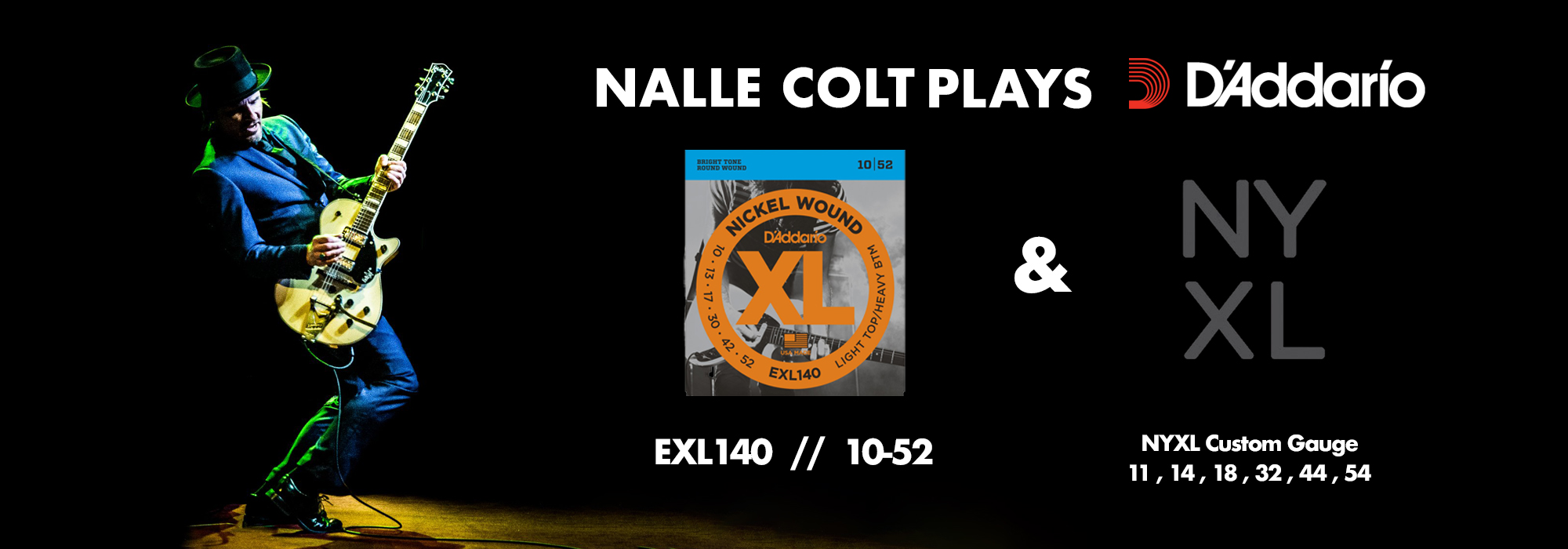 Nalle Colt of Vintage Trouble uses D'Addario Electric Guitar Strings