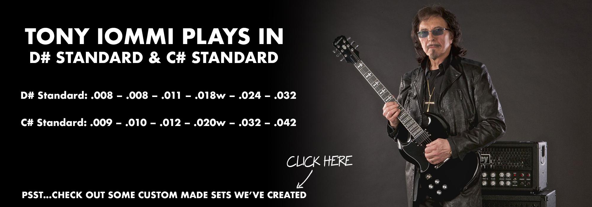 Tony Iommi's Electric Guitar String Gauges