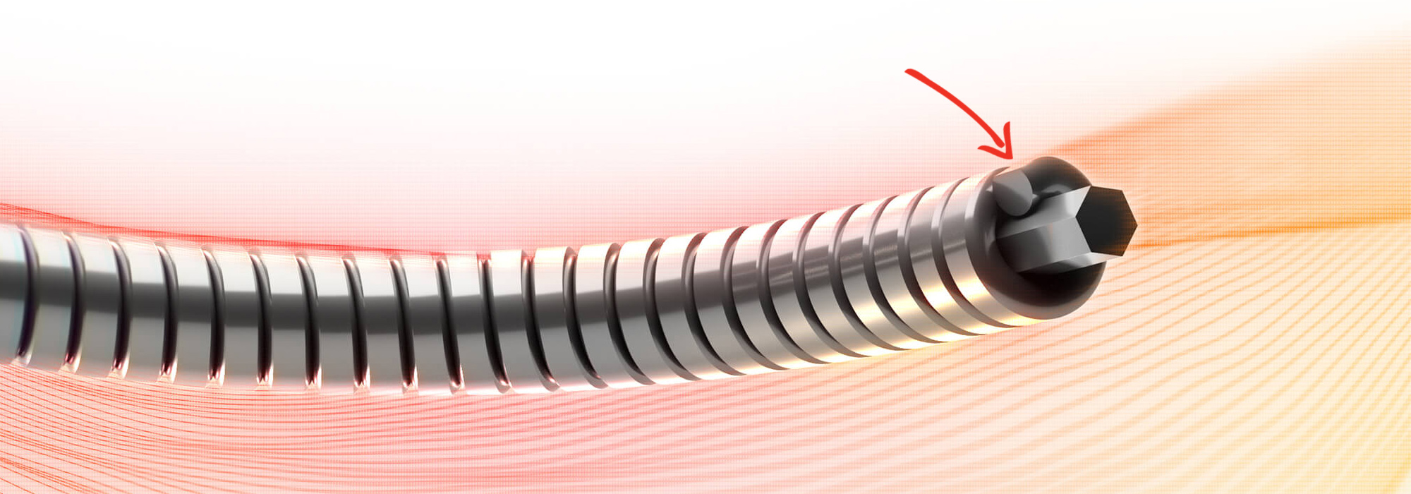 A visual representation of the 'grinding' process and the effect it has on the outer winding