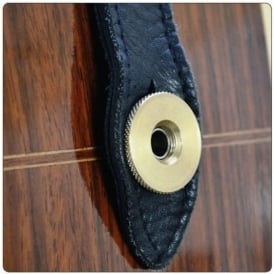 "Acoustic Guitar Strap Brass Secure 3/8"" US Spec for use with jack sockets"