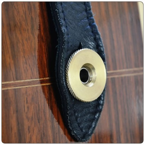 Acoustic Secure Acoustic Guitar Strap Brass Secure Metric Thread M9 for use with jack sockets