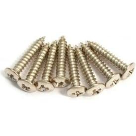 AllParts GS-3397-001 Humbucker Ring Screws, Short, Nickel, 8-Pack