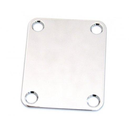 AllParts AP-0600-010 Neck Plate, 4 Hole, Chrome