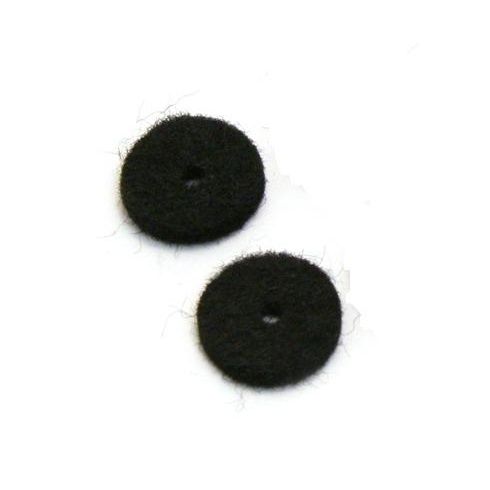 Allparts AP-0674-023 Felt Cushion for Strap Buttons, Black, 2-Pack