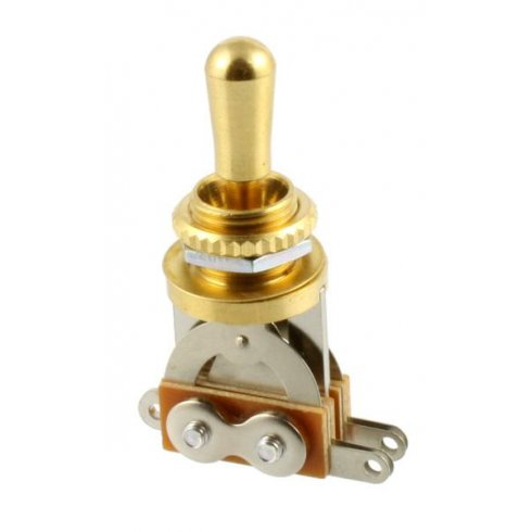 Allparts EP-0066-002 Toggle Switch, 3-Way, Short Straight, Gold