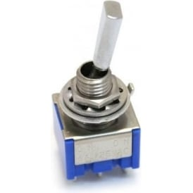 AllParts EP-0081-010 Mini Switch, DPDT, On-On, Chrome for Electric Guitar
