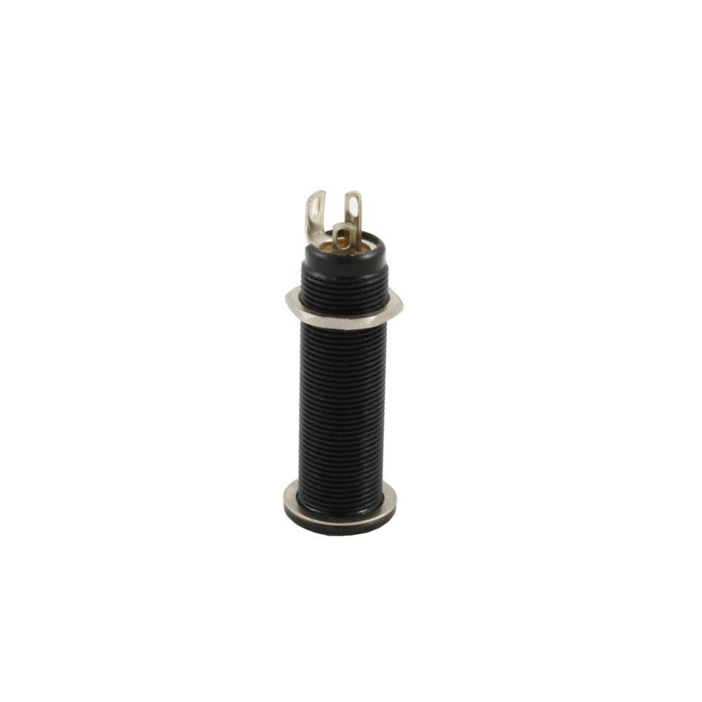 Allparts Ep 0152 003 Switchcraft Input Jack 152b Stereo 1 4 Black Guitar Barrel Wiring