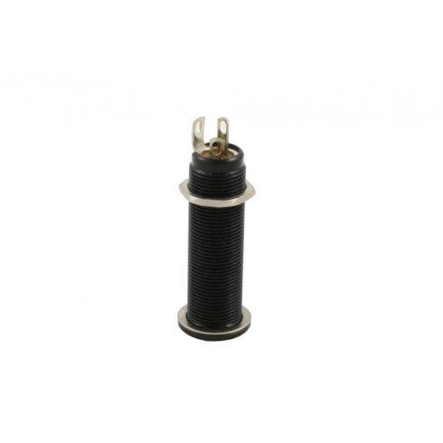 "Allparts EP-0152-003 Switchcraft Input Jack, #152B Stereo, 1/4"", Long Threaded Barrel, Black"