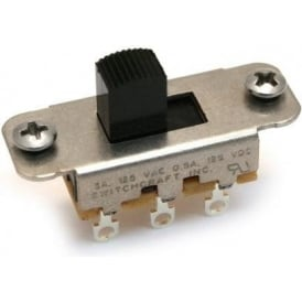AllParts EP-0260-023 Switchcraft Black On-On Slide Switch for Jaguar or Jazzmasters