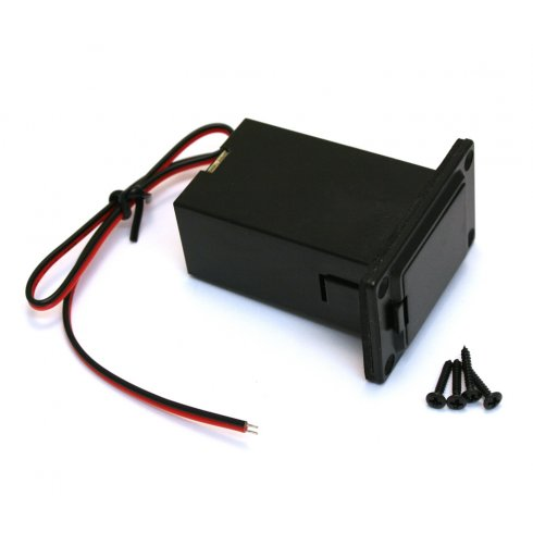 AllParts EP-2935-023 Battery Compartment w/ Access Door, 9v, Top Contacts Down