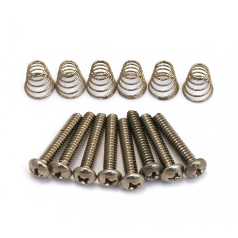 Allparts GS-0007-005 Pickup Mounting Screws for Strat & Single Coil Pickups, Stainless Steel, 8-Pack