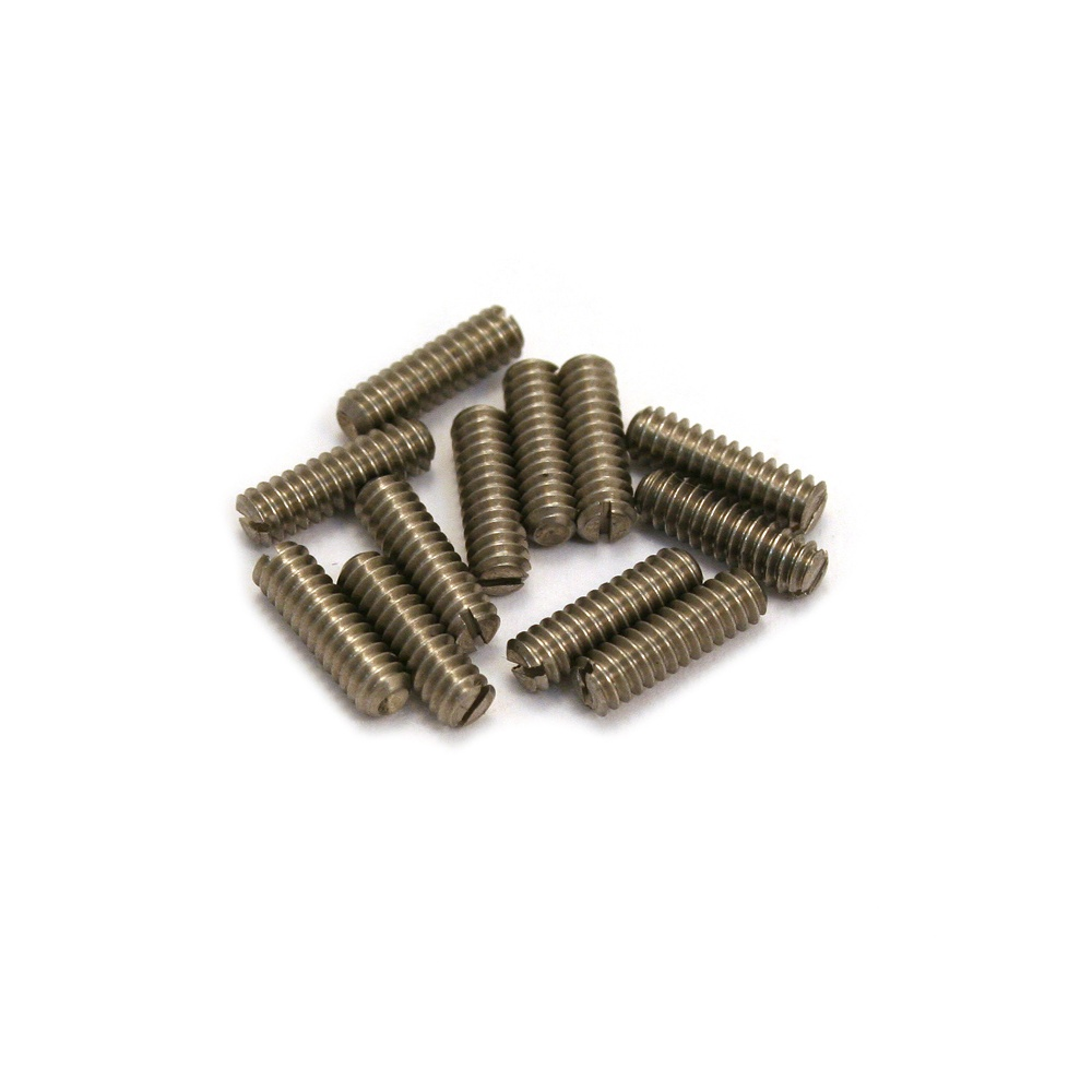 allparts gs 3372 005 guitar bridge height screws long slotted head stainless steel 12 pack. Black Bedroom Furniture Sets. Home Design Ideas