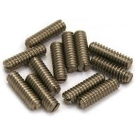 AllParts GS-3372-005 Guitar Bridge Height Screws, Long, Slotted Head, Stainless Steel, 12-Pack