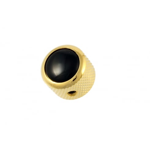 Allparts MK-3176-002 Gold Dome Metal Knob w/ Black Acrylic Inlay