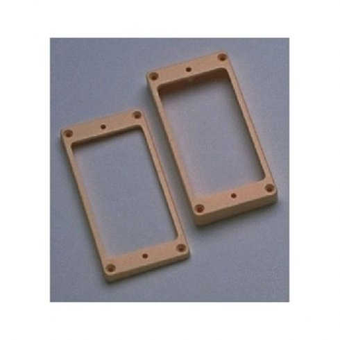 AllParts PC-0733-028 Humbucking Pickup Curved Cream Rings Set 2-Pack
