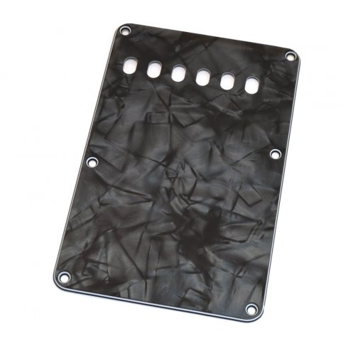 Allparts PG-0556-052 Tremolo Spring Cover, Backplate for Strat, Dark Black Pearloid