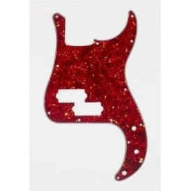 AllParts PG-0750-044 Pickguard for P-Bass, 3-Ply Red Tortoise Shell