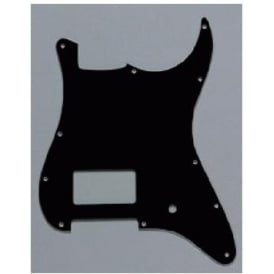 AllParts PG-0993-033 1 Humbucker Black Pickguard for Stratocaster Electric Guitar