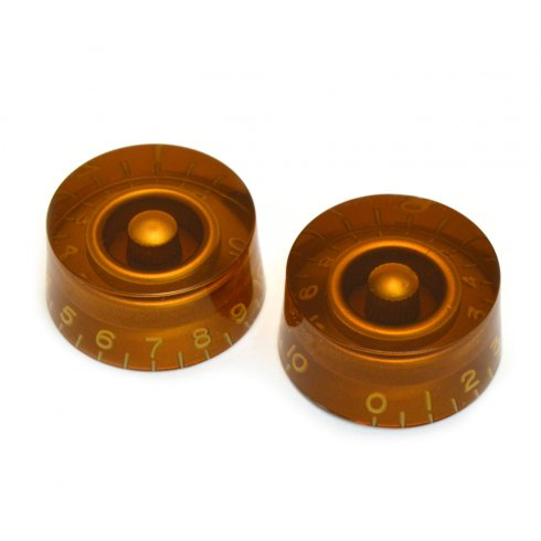 AllParts PK-0130-022 Speed Knobs, Vintage Style, Amber, 2-Pack