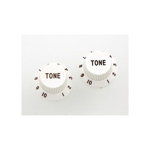 AllParts PK-0153-025 Tone Knobs, Stratocaster, White, 2-Pack