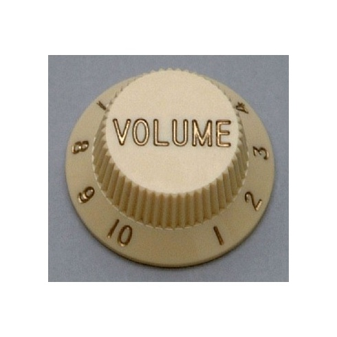 Allparts PK-0154-050 Volume Knobs, Stratocaster, Parchment, 2-Pack