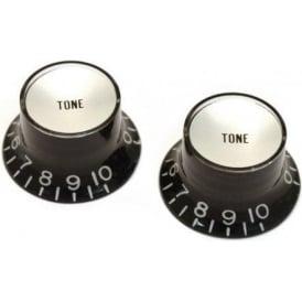 AllParts PK-0182-023 Tone Reflector Knobs, Black, 2-Pack