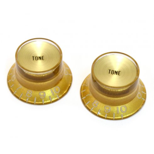 AllParts PK-0182-032 Tone Reflector Knobs, Gold, 2-Pack