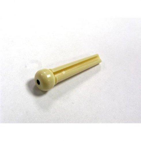 Allparts Single Plastic Bridge Pin - Cream with Black Dot