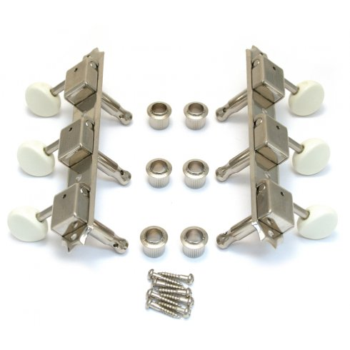 Allparts TK-0700-001 Machine Head Set, Vintage Style 3x3, Nickel