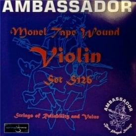 Ambassador S126 Monel Tape Wound Violin Strings 4/4