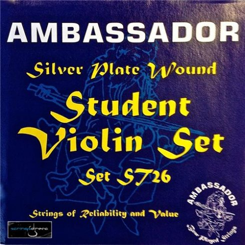 Ambassador ST26 Student Silver Plated Violin Strings 4/4
