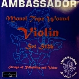 Ambassador S126 Monel Tape Wound Violin Strings 4/4