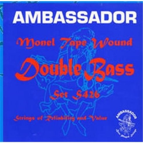 Ambassador S426 Monel Tape Wound Double Bass Strings 7/8