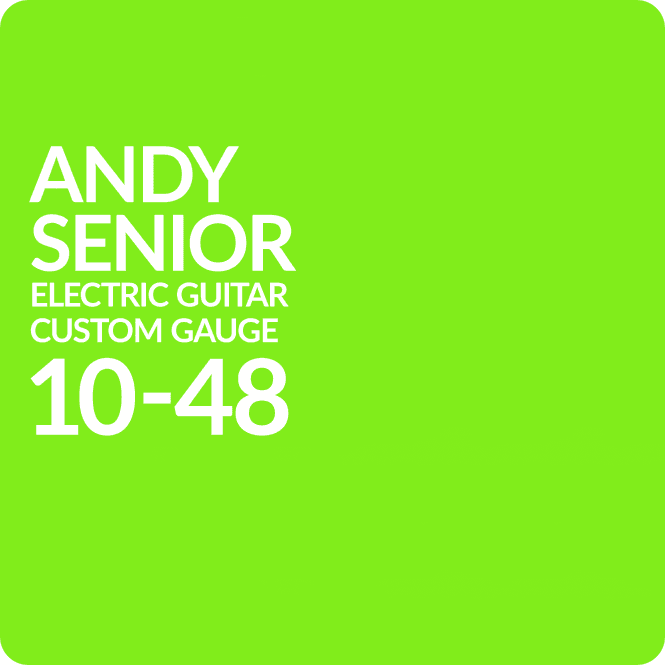 Andy Senior 10-48 Custom Gauge Electric Guitar Set (Slinky)