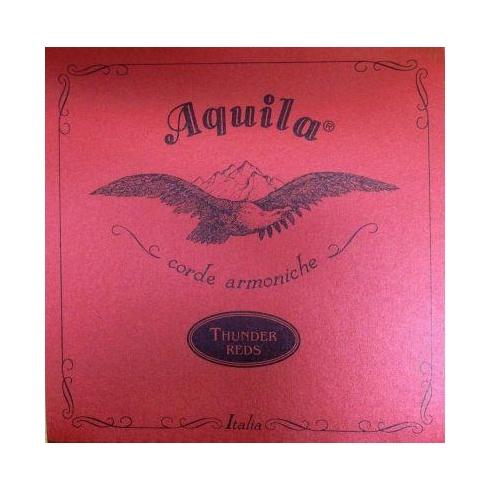 Aquila Corde Aquila Thunder Reds Bass Ukulele Strings Red 91U - for uBasses