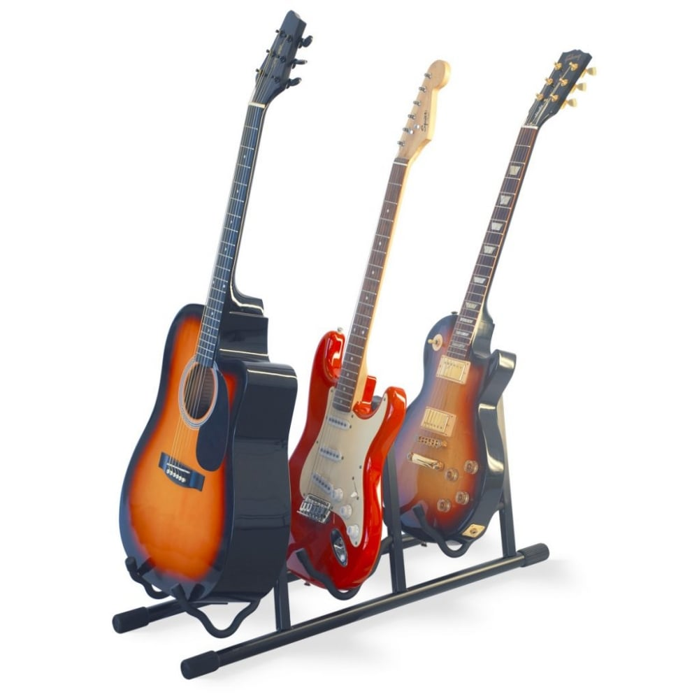 athletic professional triple guitar stand. Black Bedroom Furniture Sets. Home Design Ideas