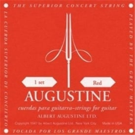 Augustine Classic Red Classical Guitar Strings - Regular Trebles / Normal Tension Basses