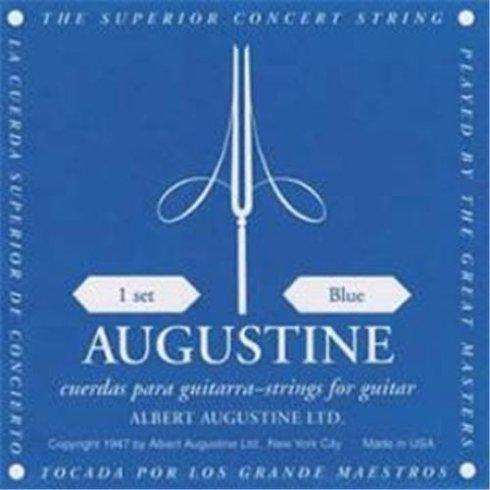Augustine Classic Blue Classical Guitar Strings - Regular Trebles / High Tension Basses