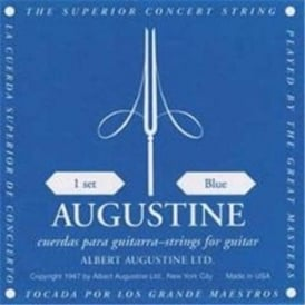 Augustine Classic Blue Classical Guitar Strings - Regular Trebles / High Tension Basses