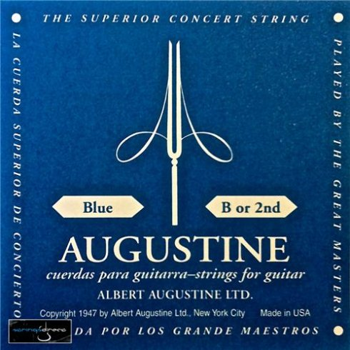 Augustine Classic Blue Clear Nylon Normal Tension Classical Guitar Single String .032 B-2
