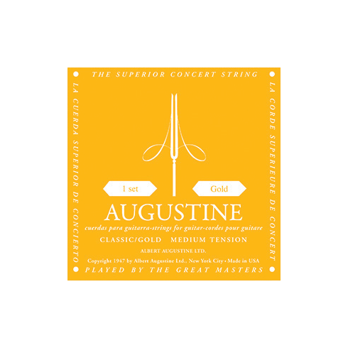 Augustine Classic Gold Classical Guitar Strings - Regular Trebles / Low Tension Basses