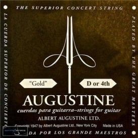 Augustine Classic Gold Wound Nylon Low Tension Classical Guitar Single String .0315 D-4