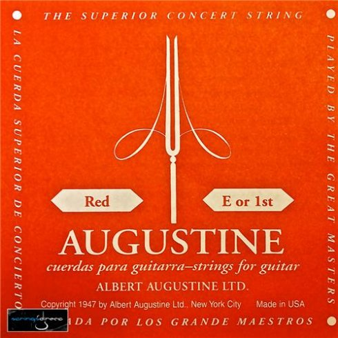 Augustine Classic Red Clear Nylon Normal Tension Classical Guitar Single String .028 E-1