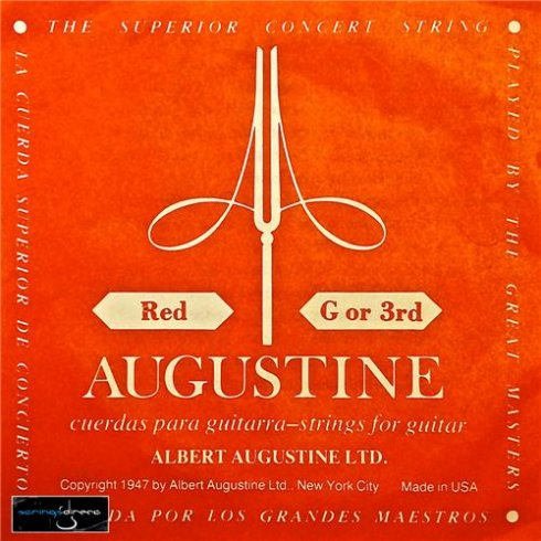 Augustine Classic Red Clear Nylon Normal Tension Classical Guitar Single String .040 G-3