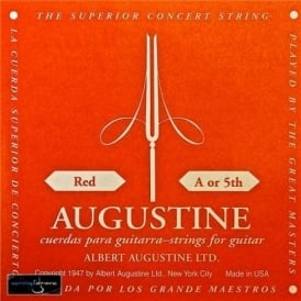 Augustine Classic Red Wound Nylon High Tension Classical Guitar Single String .035 A-5